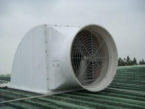 نمونه ای از اگزاست فن صنعتی پشت بامی