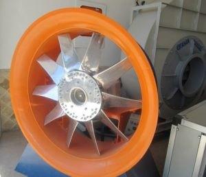 تصویری از یک فن آکسیال (هواکش صنعتی)